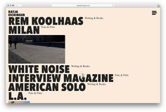 Webdesign and development for munich based writer, photographer and filmmaker Katja Eichinger.