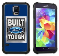 Maximum Protection Case / Cover with Cushioned Corners for Samsung Galaxy S5 - Ford Built Tough Logo (blue). Extreme Protection from drops and scratches in a slim line package. Soft rubber inner layer with hard plastic outer layer. Cushioned protection of vulnerable corner hits. Officially Licensed Product. Beautiful, high resolution printed back cover. Compatible with Samsung Galaxy S5. FREE SHIPPING.
