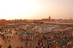 marché de Marrakech, la ville rouge
