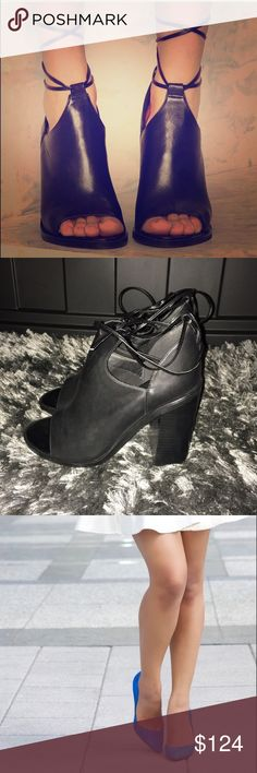 Bundle of Gorgeous Shoes  Bundle of Tie up Booties and Blue pointy toe pumps. Both size 10 Steve Madden Shoes Heels