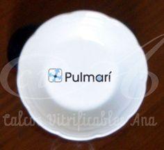 Calco vitrificable del logo de la empresa  Pulmarí (Salta), a tres colores.