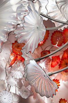 Chelsea Persians by Dale Chihuly | 2010, site-specific installation, 100+ glass elements on stainless steel armatures. courtesy Marlborough Gallery , New York #glass #art #sculpture