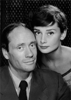 A portrait of Audrey Hepburn and Mel Ferrer by Philippe Halsman