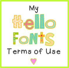 Hello Literacy: fonts