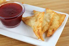 Homemage Crab Rangoon!  I must try this recipe! yummy! I love chinese food