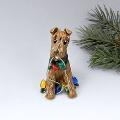 Welsh terrier christmas ornament lights by themagicsleigh on etsy