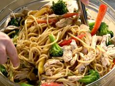 Get this all-star, easy-to-follow Szechuan Noodles with Chicken and Broccoli recipe from Ina Garten