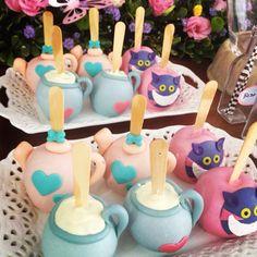 Maçãs decoradas Alice