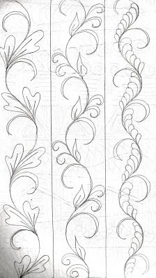 LuAnn Kessi: From My Sketch Book…doodle drawing vines to me but quilting designs for LuAnn! LuAnn Kessi: From My Sketch Book…doodle drawing vines to me but quilting desig…Large Metropolitan Sketch Drawing Pattern Machine Quilting Patterns, Longarm Quilting, Free Motion Quilting, Quilt Patterns, Quilting Ideas, Quilting Stencils, Art Quilting, Patchwork Quilting, Quilt Border