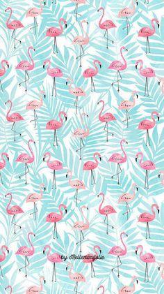 Bedroom wallpaper blue design 20 new Ideas Flamingo Wallpaper, Summer Wallpaper, Wallpaper Decor, Screen Wallpaper, Pattern Wallpaper, Wallpaper Backgrounds, Iphone Wallpaper, Bedroom Wallpaper, Blue Wallpapers