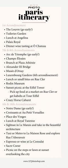 Paris Itinerary by Arrondissement - Paris - Travel Paris France Travel, Paris Travel Guide, Travel List, Travel Advice, Travel Guides, Solo Travel, Travel Bag, European Vacation, European Travel