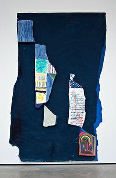 Chris Johanson, OK, 2013, 270 x 169 x 9 cm, Acrylic and household paint on paper.
