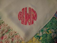 monogrammed lilly pashmina. ordering now.