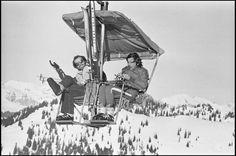 reinopin: Jack Nicholson et Roman Polanski sur un télésiège à Gstaad © Daniel Angeli / Agence Angeli