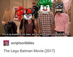 Tumblr, Tumblr Batjokes, DC Comics, Batjokes, Batman, Bruce Wayne, The Joker, Harley Quinn, Parks and Rec, The Lego Batman movie
