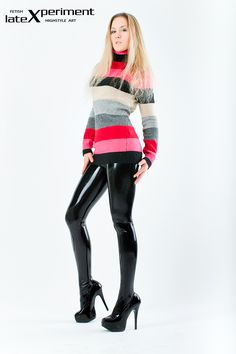Latex pantyhose with a regular pullover