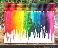 Bleeding crayon art