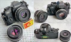 Nikon FG w. Nikon Lens Series E 50mm 1:1.8 & 35mm 1:2.5 | Flickr - Photo Sharing!