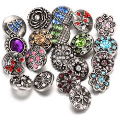 Honesty Good Luck Flower New Snap Jewelry 18mm Charm Snap Buttons Fit Silver Leather Snap Button Bracelet Buttons Wedding Party Jewelry Jewelry & Accessories