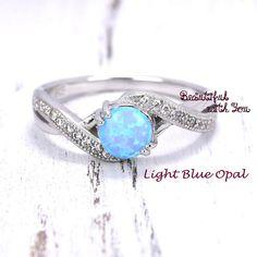 Wedding Ring Women Opal Wedding Ring Lab Created White Opal