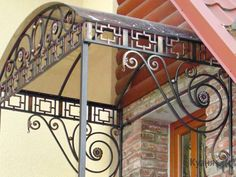 Steel Furniture, Home Decor Furniture, Furniture Design, House Canopy, Window Awnings, Grades, Cafe Tables, Marquise, Gate Design