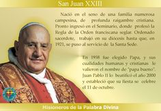 MISIONEROS DE LA PALABRA DIVINA: SANTORAL - SAN JUAN XXIII