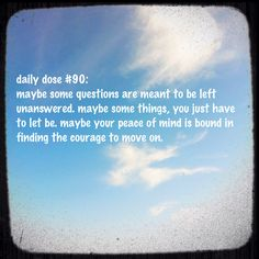 #dailydose #peace #letting go #motivation