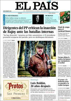 Los Titulares y Portadas de Noticias Destacadas Españolas del 17 de Noviembre de 2013 del Diario El País ¿Que le pareció esta Portada de este Diario Español?