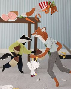 Fantastic Mr. Fox 8x10 print van RoadsideProjects op Etsy, $20.00