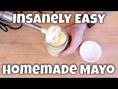 Homemade Mayo - 2 Recipes, 2 Methods, Infinite Possibilities - A GREAT video. It includes a method for giving the mayo a longer shelf life. Banting Recipes, Low Carb Recipes, Keto Sauces, Keto Chocolate Cake, Homemade Mayonnaise, Food Articles, Recipes For Beginners, Crockpot Recipes, Dessert Recipes