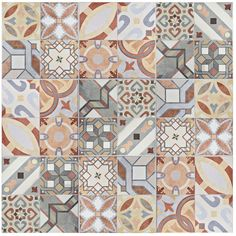 SomerTile 13x13-inch Hidraulic Ceramic Floor and Wall Tile (Case of 11)