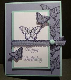 Karina's Kreations: Stampin'Up Papillon Potpourri Birthday Card!