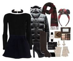 """❄️️❄️️❄️️"" by imimidoll ❤ liked on Polyvore featuring Lanvin, The North Face, John Lewis, Kiki de Montparnasse, Hue, Acne Studios, Schutz, Daniel Wellington, Annoushka and Too Faced Cosmetics"