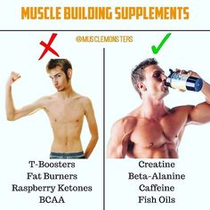 Muscle Building Supplements That Actually Work from @musclemonsters  _  1. Creatine: When it comes to performance there is no other supplement that has been more researched or proven to work. Creatine monohydrate ensures 100% saturation of the muscle tiss
