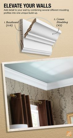 Add detail to your crown moulding by combining several different moulding profiles into one unique build-up. The Home Depot Blog shows you how.