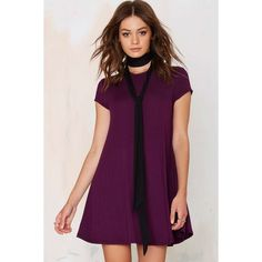 Nasty Gal Take the Shirt Cut Dress (640 MXN) ❤ liked on Polyvore featuring dresses, purple, a line dress, plum dress, purple dress, shirt-dress and purple a line dress