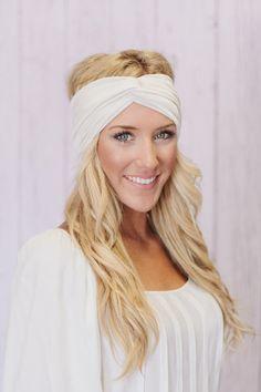 Women's Solid Jersey Turban Hair Band Headband or by ThreeBirdNest