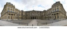 WURZBURG, GERMANY - MARCH 1, 2010: The Wurzburg Residence is a Palace in southern Germany,  belonged to the princes-bishops until the 19th century on March 1, 2010 in Wurzburg. - stock photo
