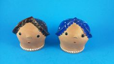 Vintage Salt and Pepper Shakers - Women Heads with Hats