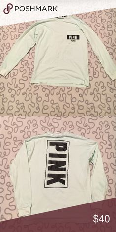 Baby Blue PINK Top Perfect condition. No rips, tears, or stains. PINK Victoria's Secret Tops Tees - Long Sleeve