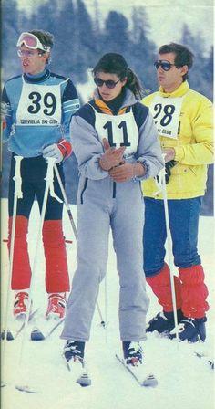 Albert, Caroline & Stefano enjoying a ski date