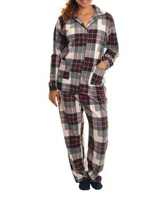 f0a9f5a092 Pink Plaid Fleece Pajama Set - Women  amp