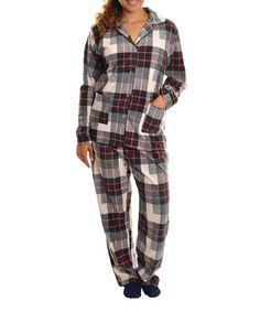 Pink Plaid Fleece Pajama Set - Women  amp  b68ace083