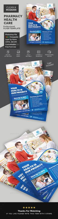 Buy Pharmacy Flyer by Creative-Touch on GraphicRiver. This Flyer Template is perfectly suitable for promoting your Business. You can also use this template in multipurpose. Layout Design, Flyer Design, Flyer Poster, Business Flyer Templates, Business Flyers, Medical Health Care, Graphic Design Brochure, Pharmacy Design, Plakat Design