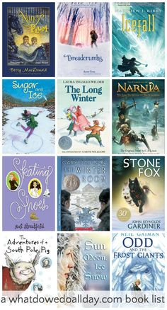 Winter chapter books for kids. Also these are good read alouds for families.