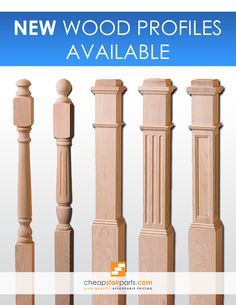 Wood Newel Posts for Stairs in 2020 Wooden Staircase Railing, Interior Stair Railing, Stair Railing Design, Stair Handrail, Stair Decor, Wooden Stairs, Wood Balusters, Stair Posts, Newel Posts