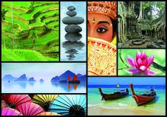 """Puzzle EDUCA """"Colores de Asia"""", 1.000 piezas #asia #travel"""