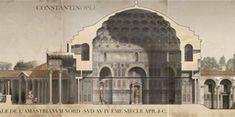 Δείτε πως ήταν η Κωνσταντινούπολη πριν την Άλωση Historic Architecture, Taj Mahal, Building, Illustration, Travel, Historia, Viajes, Buildings, Destinations
