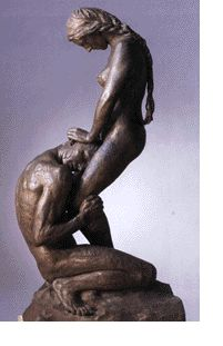 "Eros and Psyche, Gustav Vigeland (1869-1943) better known as "" Kneeling Man Embrasing a Standing Woman"""