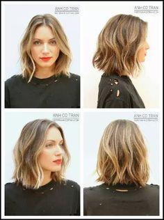 30 Trends 2015 Modern Sizes and Trends - Short and Medium Length Hair - Hair - cheveux Hair Styles 2014, Medium Hair Styles, Short Hair Styles, Pretty Hairstyles, Bob Hairstyles, Short Haircuts, Wedding Hairstyles, Hairstyle Ideas, Beach Hairstyles